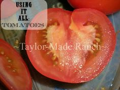 Don't Throw Away Those Tomato Skins, Dehydrate and Powder Them To Use In Your Cooking. EASY!  #TaylorMadeRanch