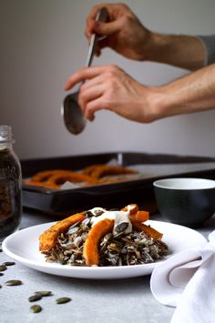 Cardamom Roasted Squash, Marinated Wild Rice w/ Chives, Chilli & Lime + A Cashew Cream Roasted Squash, Savory Foods, Cashew Cream, Healthy Vegetables, Wild Rice, Meals For One, Cravings, Lime, Posts
