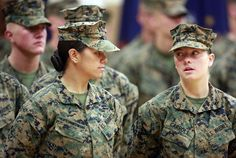 Three Marines have become the first women to graduate from the Marine Corps' tough-as-nails enlisted infantry training school in North Carolina. Woo hoo, great job ladies! Had a stroke just thinking about the training!