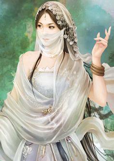 Myasel Bencivenga, Head Guild Minister, The United Crystalline Order - Jewelers Guild, Light's Watch celine garcia Lovely Girl Image, Beautiful Fantasy Art, Fantasy Paintings, Anime Art Girl, Fantasy Girl, Girl Cartoon, Chinese Art, Asian Art, Female Art