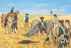 The Guns on Comb's Hill, Battle of Monmouth, 1778. Click on image to ENLARGE.