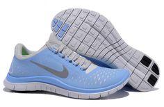 Womens Nike Free 3.0 V4 Prism Blue Reflective Silver Sail Shoes