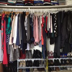 Pinning my own closet because why not.