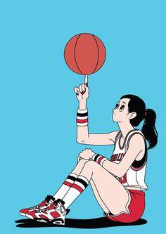 Basketball Girl on Behance - Carmen Schrott - # Basketball Girl . Basketball Drawings, Basketball Anime, Basketball Memes, Love And Basketball, Basketball Players, Nike Basketball, Basketball Videos, Street Basketball, Basketball Workouts