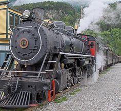 White P Railroad Skagway Alaska