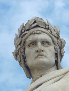 From the Santa Croce Basilica in Florence.  Dante.