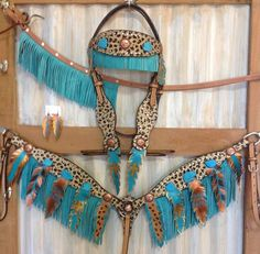Check it out! Cowgirl And Horse, Western Horse Tack, Custom Purses, Barrel Racing, Taylors, Horse Stuff, Leather Belts, Feather, Track