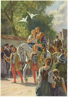 rucke di guck, kein Blut ist im Schuck . A Cinderella Story, Classic Fairy Tales, Vintage Fairies, Fairytale Art, Childhood Stories, Illustrators, Fantasy Art, Illustration Art, Drawings