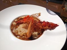 Lobster risotto at La Voile Restaurant @lareserveramatuelle