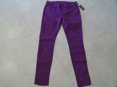 Miss Me Reid midrise purple snakeskin skinny ankle Women's Jeans Size 28  $29.99