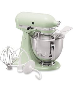 What's not to love about this Pistachio Stand Mixer By Kitchenaid? Buy it here: http://www.bhg.com/shop/kitchenaid-pistachio-5-qt-artisan-stand-mixer-by-kitchenaid-p4fcf388382a75e5584520ab3.html