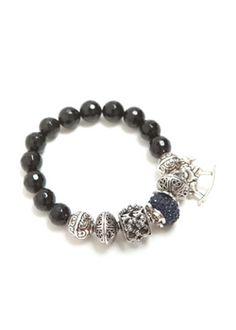 Black beads bangle  $16.5