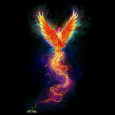 From the Last Spark color est un T-shirt conçu par chriskar pour illustrer votre . - From the Last Spark color est un T-shirt conçu par chriskar pour illustrer votre vie et disponible - Phoenix Artwork, Phoenix Wallpaper, Phoenix Images, Rising Phoenix Tattoo, Phoenix Bird Tattoos, Phoenix Tattoo Design, Phenix Tattoo, Tattoo Designs, Mythical Creatures Art