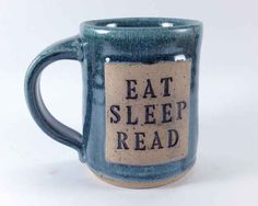 Eat. Sleep. Read. Mug. {17 Novel Etsy Gifts For Every Kind Of Book Lover} Coffee Lover Gifts, Book Gifts, Gifts For Book Lovers, Coffee Mugs, Coffee And Books, Coffee Room, Coffee Shops, I Love Books, Books To Read