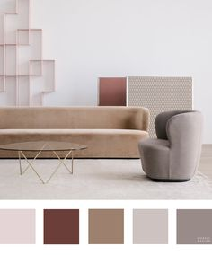 10 Beautiful and Totally Workable Color Palettes from Danish Design Powerhouse GUBI - Nordic Design Interior Color Schemes, Room Color Schemes, Room Colors, House Colors, Paint Colors, Design Palette, Nordic Design, Scandinavian Design, Scandinavian Interiors