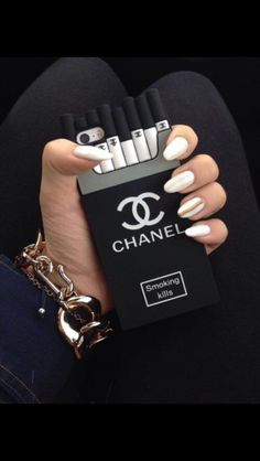 Chanel cigarette iphone smoking kills iphone 5/5s 6/6 plus silicone case