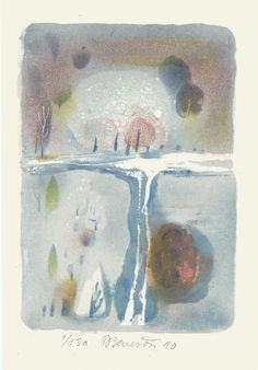 Road, lithograph print by Daniela Benešová | Czech contemporary artist.