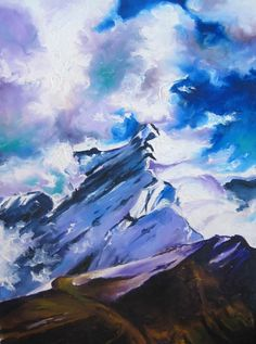 Mountain peak Annapurna, oil on canvas by Oliver Riedel