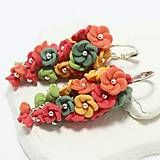 Folk, Blues, Floral, Earrings, Flowers, Jewelry, Ear Rings, Stud Earrings, Jewlery