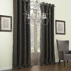 (Two Panels) Embossed Branches Classic Blackout Curtain – USD $ 54.99