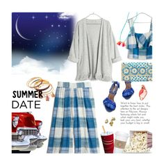"""outfit 118"" by believelikebreathing ❤ liked on Polyvore featuring Madewell, EAST, Kate Spade, DateNight, drivein and summerdate"