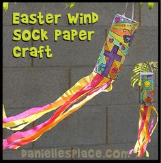 Easter Wind Sock Craft from www.daniellesplace.com. Now available as an instant download for $1.00