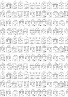 Free printable houses coloring page - ausdruckbares Ausmalbild - freebie Free Printable Planner Stickers, Free Printable Coloring Pages, Free Coloring Pages, Free Printables, House Colouring Pages, Spring Coloring Pages, Coloring Books, Diy Gift Wrapping Paper, Diy Sticker