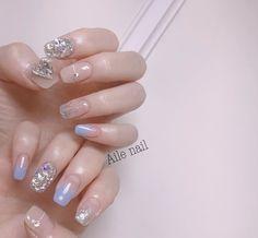 Cute Nails, Pretty Nails, My Nails, Mermaid Nails, Nails On Fleek, Nail Arts, Beauty Nails, Nail Colors, Nail Art Designs