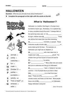 What is Halloween? English Class, English Lessons, Teaching English, Learn English, Halloween Worksheets, Halloween Activities, What Is Halloween, English Reading, Teaching