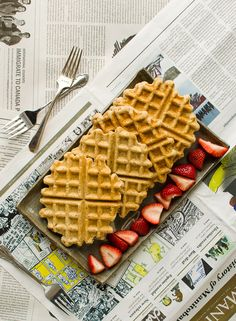 These are the best vegan waffles I've made. They're whole grain, hearty, and mouthwatering.