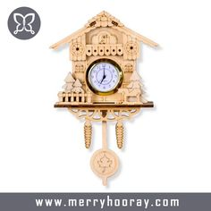 2016 Hot salling wooden cuckoo wall clocks, mechanical clock, decorative wall clock
