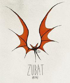 'Tim Burton Pokemon' - By Vaughn Pinpin - Zubat - #041/719.