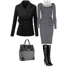 A fashion look from February 2015 featuring Diane Von Furstenberg dresses, J.TOMSON coats and Sergio Rossi boots. Browse and shop related looks.