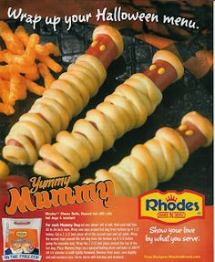Are you looking for Halloween recipes to thrill your party guests? How about Vampire Sangria or Yummy Mummy Dogs? These Free recipes will help you get started. These recipes come from The Spooky Tr… Halloween Snacks, Halloween Dinner, Easy Halloween, Halloween Buffet, Halloween Entertaining, Samhain Halloween, Halloween Recipe, Halloween 2013, Halloween Night
