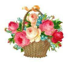 Antique Images: Free Flower Clip Art: Vintage Pink and Red Rose Graphic Flower Basket Victorian Die Cut Vintage Flowers, Vintage Pink, Vintage Clip, Hd Flower Wallpaper, Decoupage, Image Blog, Free Digital Scrapbooking, Silk Flower Arrangements, Flower Clipart