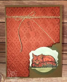 For You Foxy | Stampin' Up! | The Wilderness Awaits | Watercooler Wednesday…
