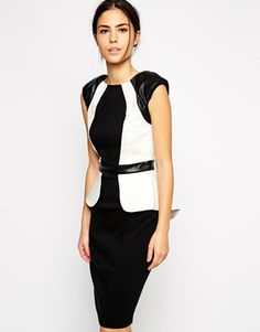 Paperdolls Pencil Dress in Monochrome