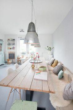 moderne wohnzimmergestaltung stylisch tipps holz esstisch