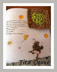 Square Coração Verde Ecológico em Crochet