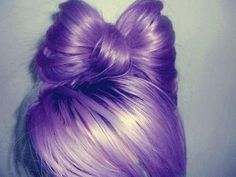purple hair bow beauty