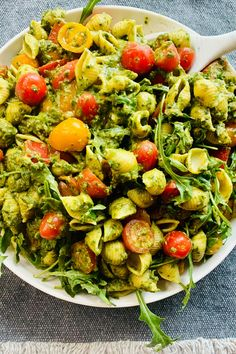 A healthy pasta dish coated in homemade pesto with fresh vegetables. It is super simple, healthy, and filled with fresh flavors. This meal takes 30 minutes or less to make Healthy Pasta Dishes, Healthy Pastas, Healthy Recipes, Homemade Pesto, Vegetable Pasta, Pesto Pasta, Fresh Vegetables, How To Cook Pasta, Weeknight Meals