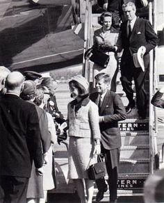 Around 11:40 a.m., the Kennedys and Connallys arrive at Love Field to meet the Dallas delegation. The president was scheduled to speak at 12:30 p.m. at the Trade Mart in Dallas before 2,600 guests.