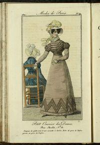 Petit Courrier des Dames : annonces des modes, des nouveautés et des arts del 15 de Mayo de 1822