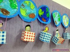 How cute is thiiis? Fun Crafts, Diy And Crafts, Crafts For Kids, Arts And Crafts, Paper Crafts, Earth Day Activities, Bible Activities, Around The World Theme, All About Me Preschool