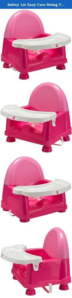 Safety 1st Easy Care Swing Tray Feeding Booster, Carnation (Pink). Simple to use and easy to clean, the Easy Care Swing Tray Feeding Booster features a tray that stays attached on one side and swings easily out of the way. This makes it easy to get your child seated securely for mealtimes. After one of those messy meals, the smooth seat design wipes down easily and the tray is dishwasher safe for quick and simple cleanup.