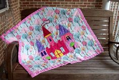 Princess Evelyn's Castle Quilt Pattern Fast and by marylandquilter