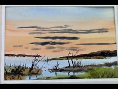 simple watercolours with a hake brush - YouTube