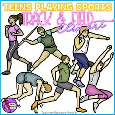 Looking for some realistic clip art of teenagers playing track and field sports in PE? This is the set for you!Product includes: Javelin throwing Long jumping Running Sprinting Shot putting Sprint start positionUse these for your own teaching resources or print them off for making your own uniquely themed bulletin boards in your classroom!Each image comes in both color and black and white and all are 300dpi png with transparent edges and closely cropped: great for…