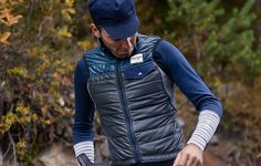 Thermal cycling gilet for men which uses Primaloft Active insulation to provide fantastic warmth and breathability on colder weather rides. Merino fleece rear section ensures great thermoregulation while a slim fit gives maximum performance on the bike. Cycling Gear, Road Cycling, Bike Kit, Cold Weather, Blue Grey, Windbreaker, Slim, Fitness, Jackets