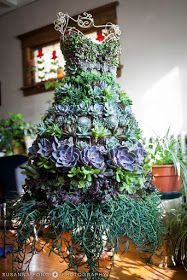 A dress form I filled with a variety of succulents - perfect for a boutique entr. A dress form I f Dress Form Christmas Tree, Holiday Tree, Xmas Tree, Christmas Trees, Christmas Border, Art Floral Noel, Arte Floral, Cacti And Succulents, Planting Succulents